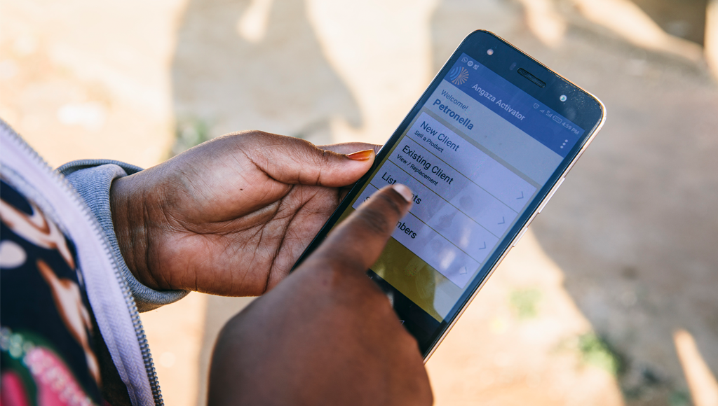 Angaza Activator app to track off-grid products