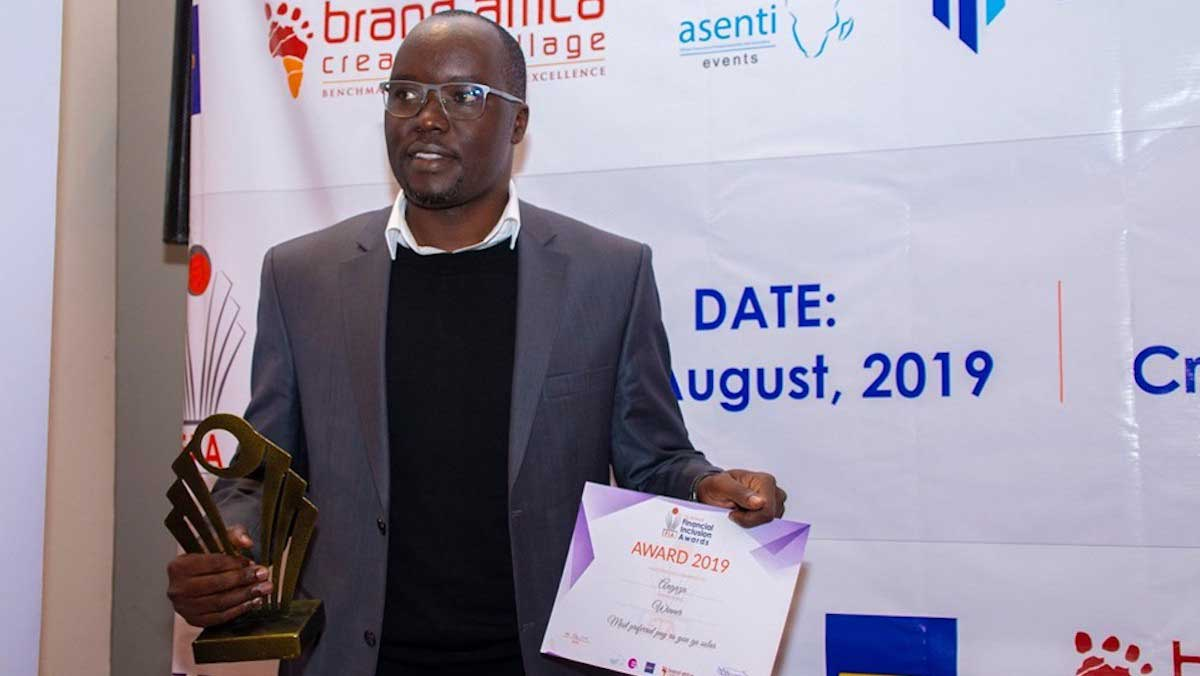financial inclusion awards kenya shadrack anyuo