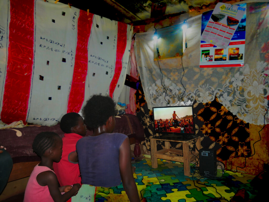 African household television