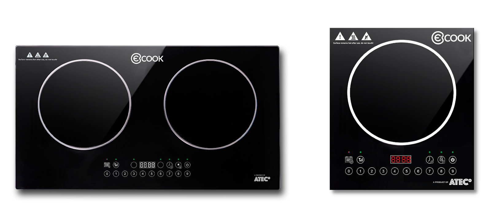 ATEC's eCook double burner and single burner cooktops
